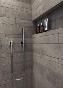 Nisjehylle og innebygget dusj